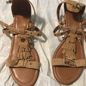 Suede little sandals